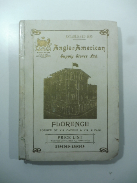 Anglo-American Supply Store Limited - Florence - Price List