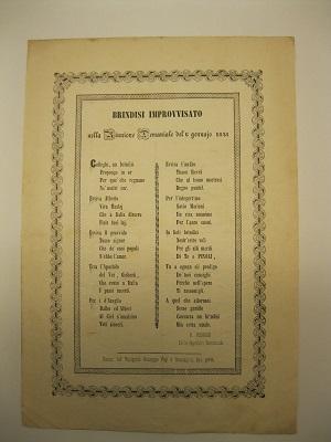 Brindisi improvvisato nella riunione demaniale del 6 gennaio 1848