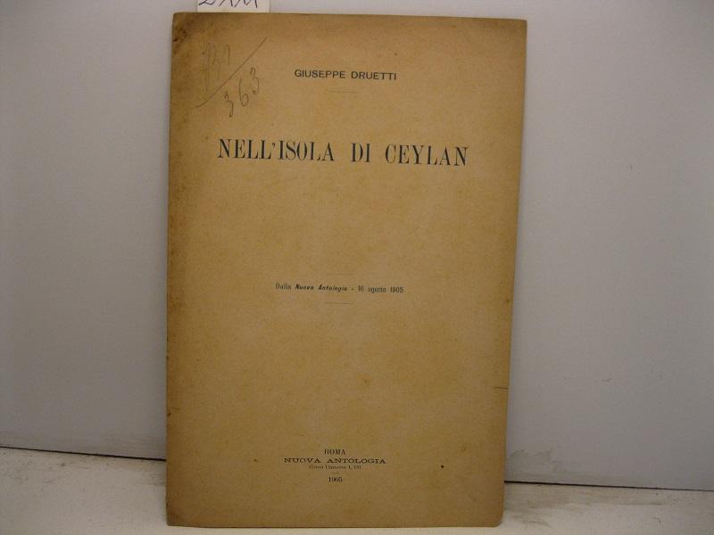 Nell'isola di Ceylan. Dalla Nuova Antologia - 16 agosto 1905