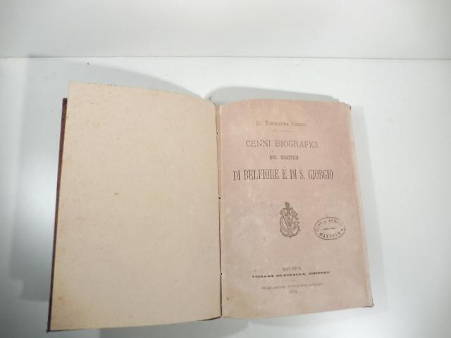 Cenni biografici dei martiri di Belfiore e di S. Giorgio
