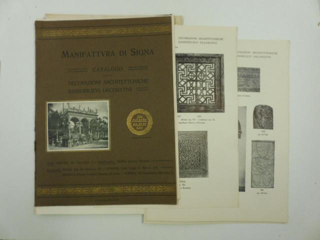 Manifattura di Signa. Catalogo. Decorazioni architettoniche ...