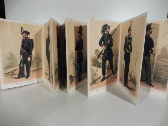La Sardaigne militaire. Leporello contenente 25 litografie di divise militari Savoia