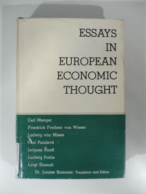 Essays in European Economic Thought
