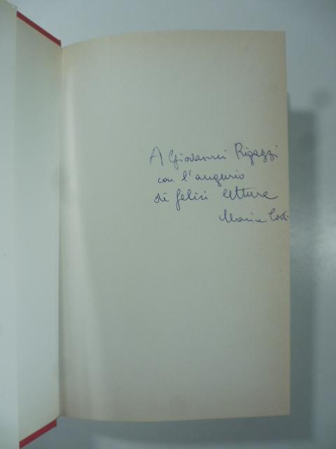 Il canto delle sirene. Copia con dedica dell'Autrice (signed copy)