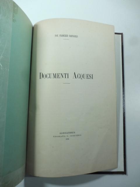 Documenti acquesi