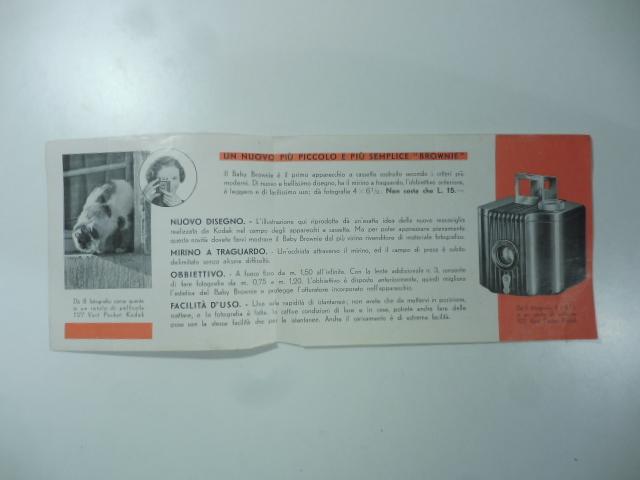 Un nuovo Kodak. Il baby Brownie per sole 15 lire per i vostri bimbi. (Pieghevole pubblicitario)