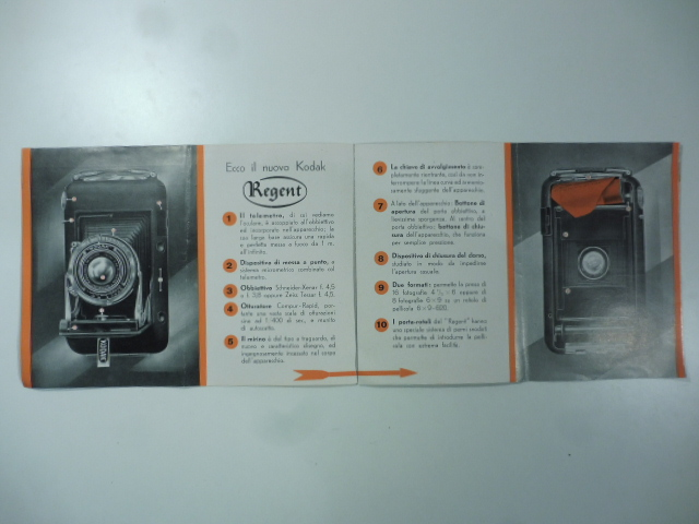 Kodak Regent. L'apparecchio dell'armonia e della distinzione. Novità 1936. (Pieghevole pubblicitario)