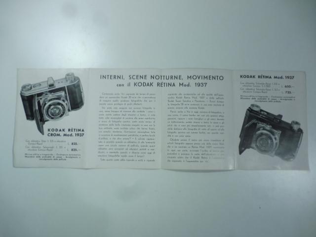 Kodak Retina mod. 1937. La fotografia 35 mm. alla maniera Kodak. (Pieghevole pubblicitario)