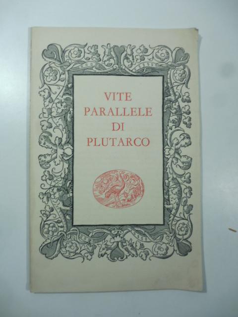 Vita di Temistocle da Vite parallele di Plutarco, edizione Einaudi