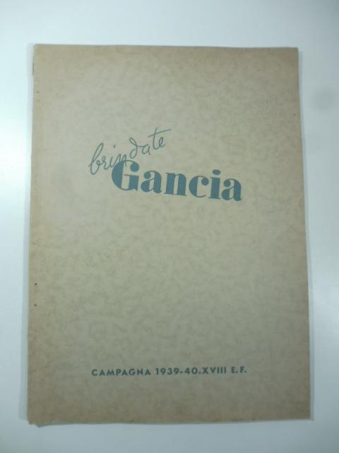 Brindate Gancia. Serie degli annunci pubblicati su 52 giornali e riviste dal 4 novembre al 31 dicembre 1939