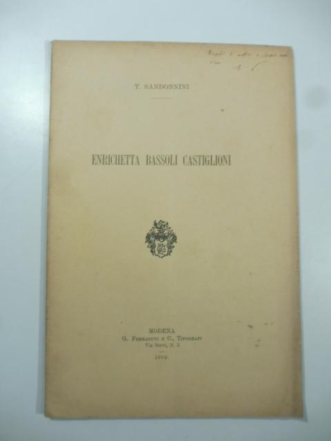 Enrichetta Bassoli Castiglioni