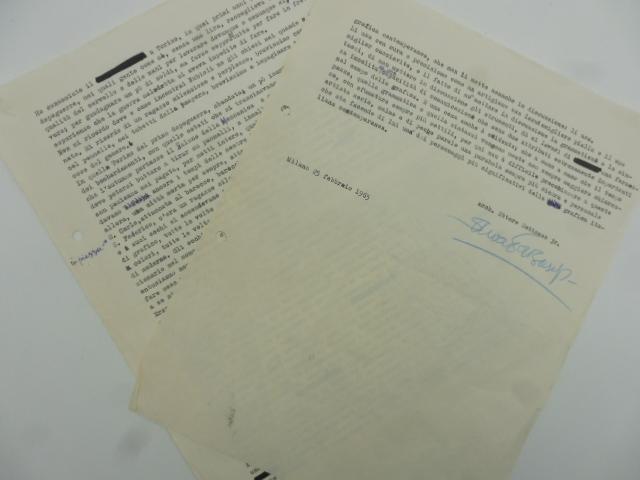 (Articolo originale dattiloscritto dedicato a Danilo Nubioli con firma autografa di Ettore Sottsass)