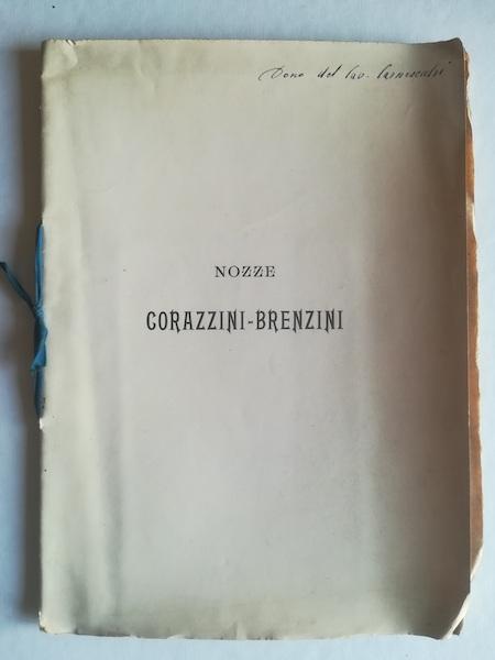 Ricordo di una cena nuziale. Alla Signora Elisa Brenzini, all'avvocato Vieri Corazzini sposi...