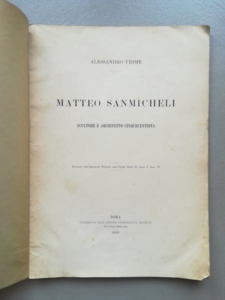Matteo Sanmicheli scultore e architetto cinquecentista