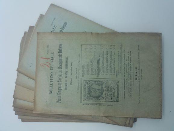 Bollettino ufficiale del primo congresso storico del risorgimento italiano e saggio di mostra sistematica. (Milano Novembre 1906)