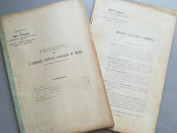 304° proposta al Consiglio comunale di Roma. Impianto elettrico comunale di Roma